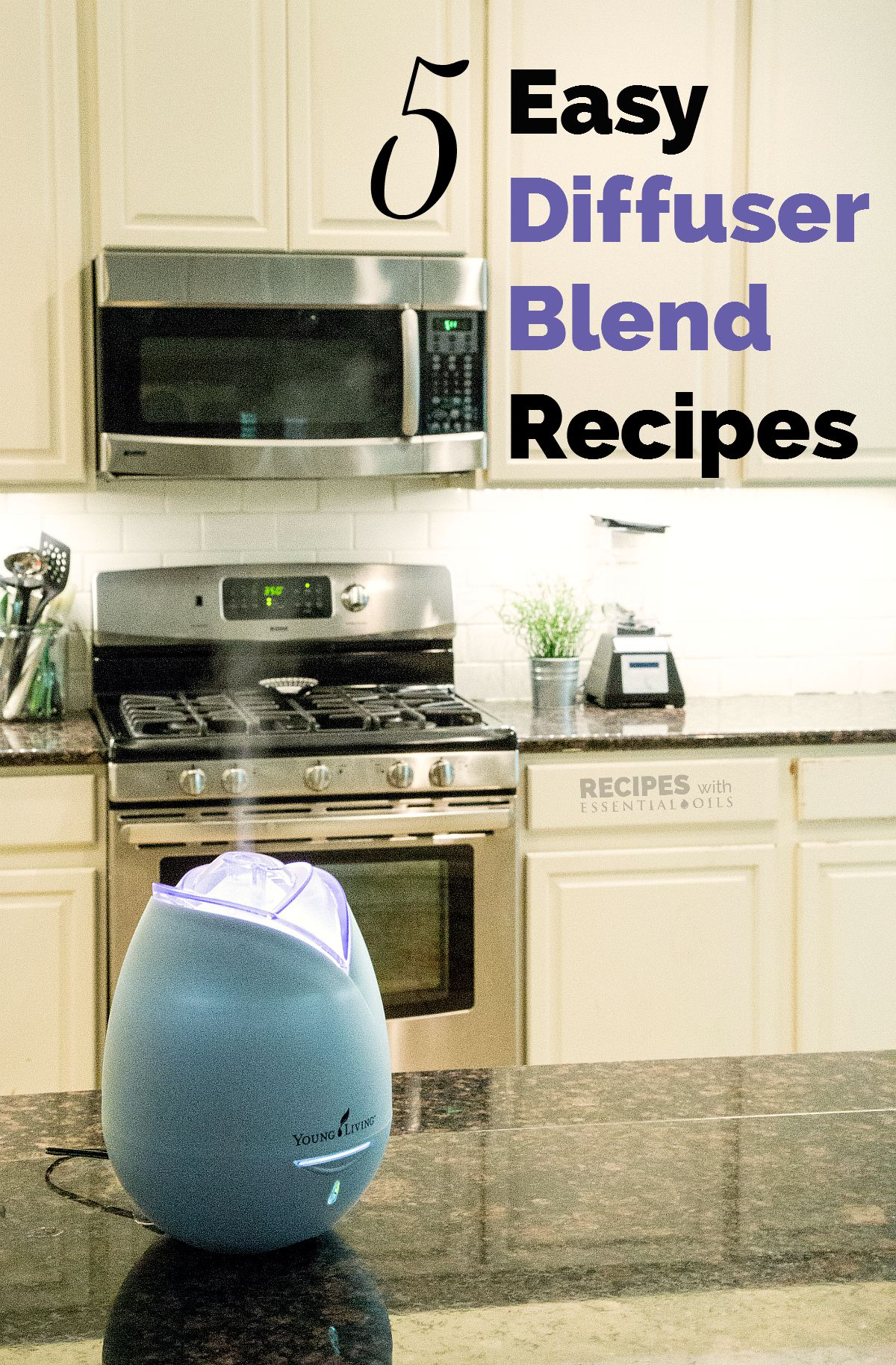 5 Easy Diffuser Blend Recipes from RecipesWithEssentialOils.com