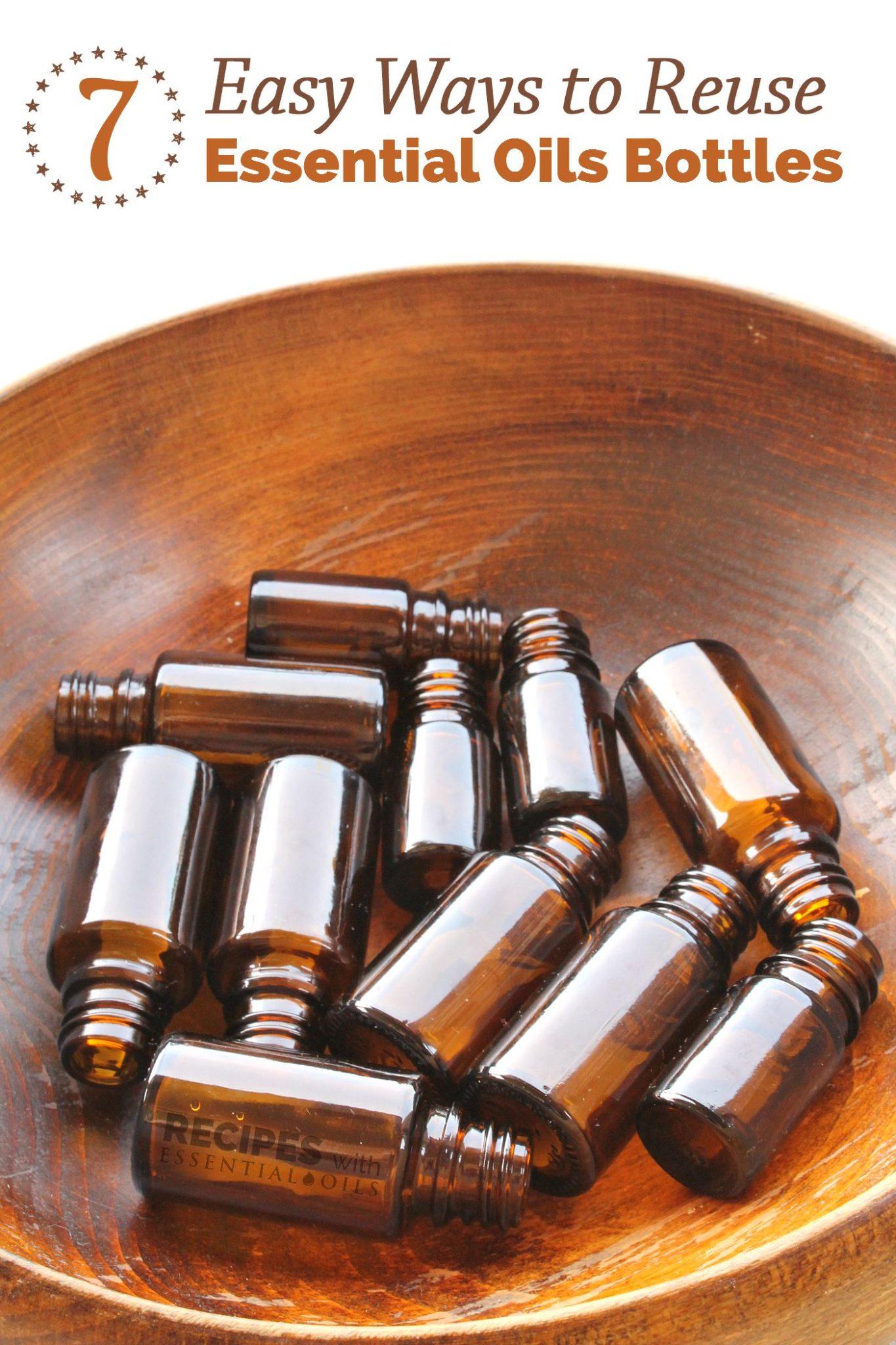 7 Ways To Reuse Essential Oils Bottles from RecipesWithEssentialOils.com
