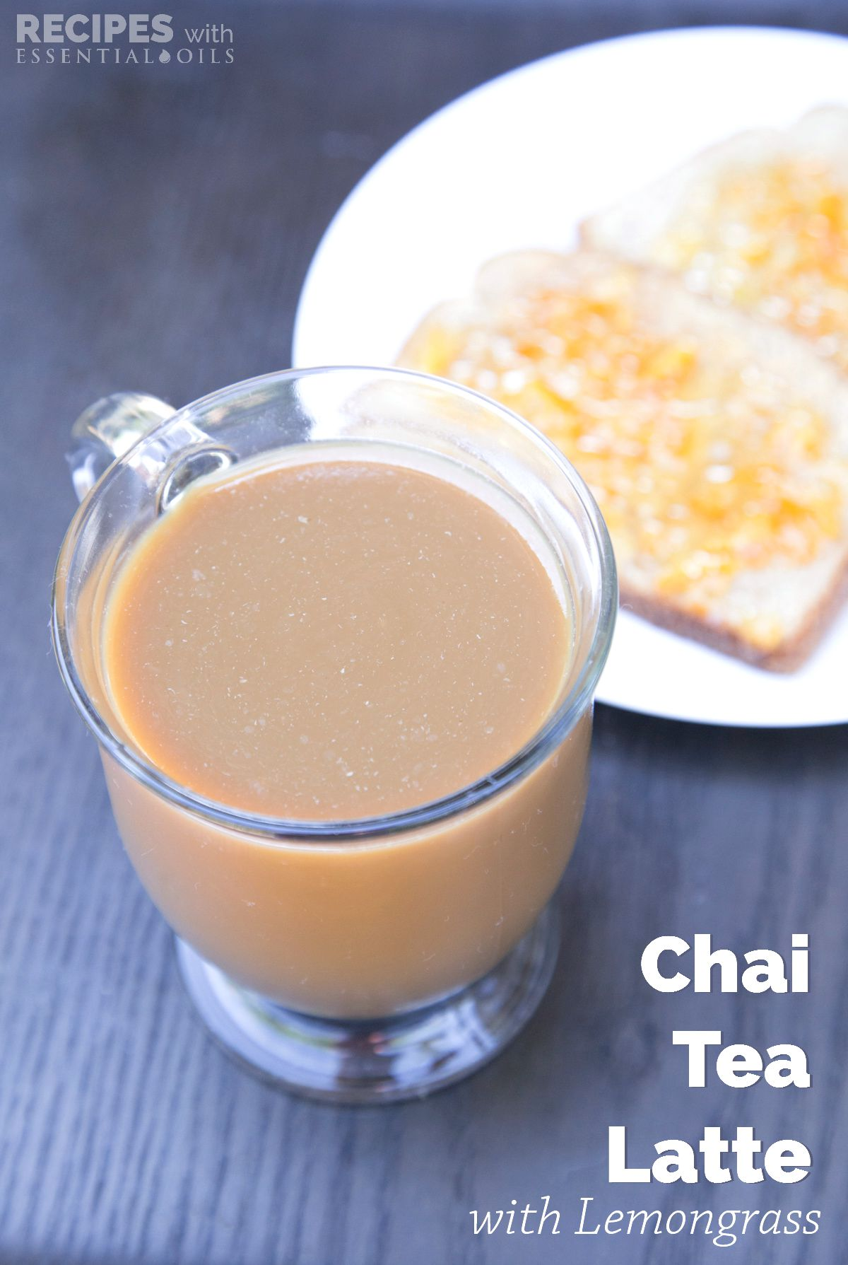 Chai Tea Latte with Lemongrass Essential Oil from RecipesWithEssentialOils.com
