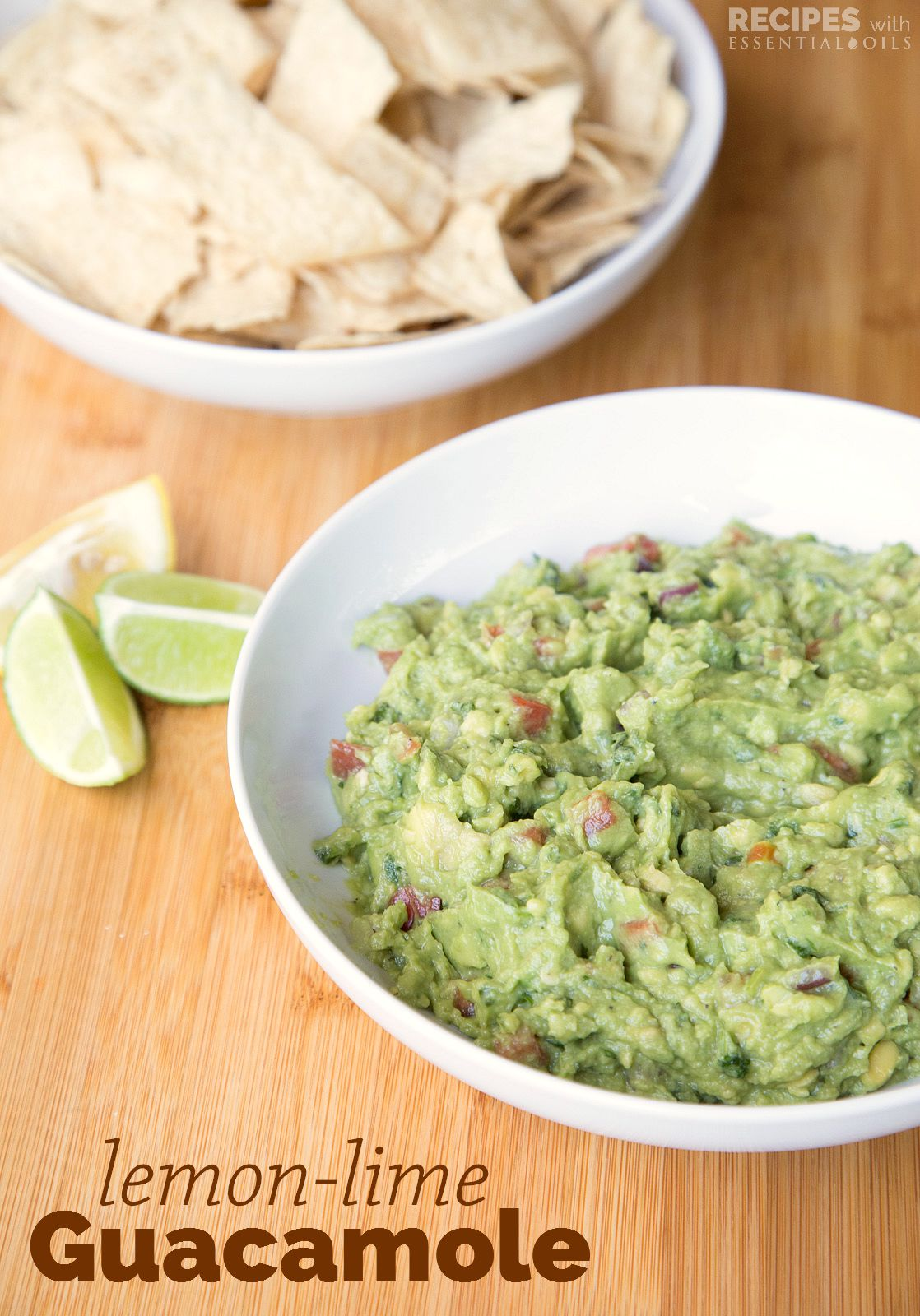 Homemade Lemon Lime Guacamole from RecipesWithEssentialOils.com