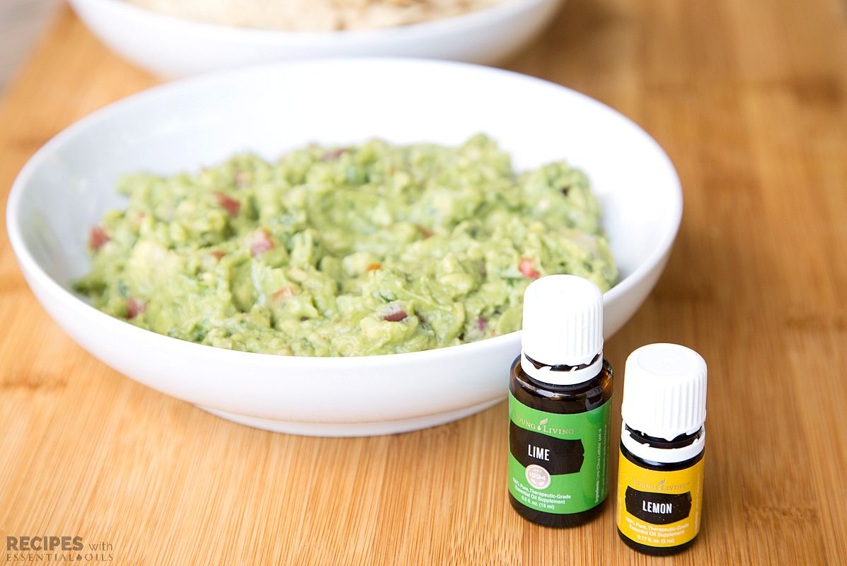 Homemade Lemon Lime Guacamole Recipes With Essential Oils
