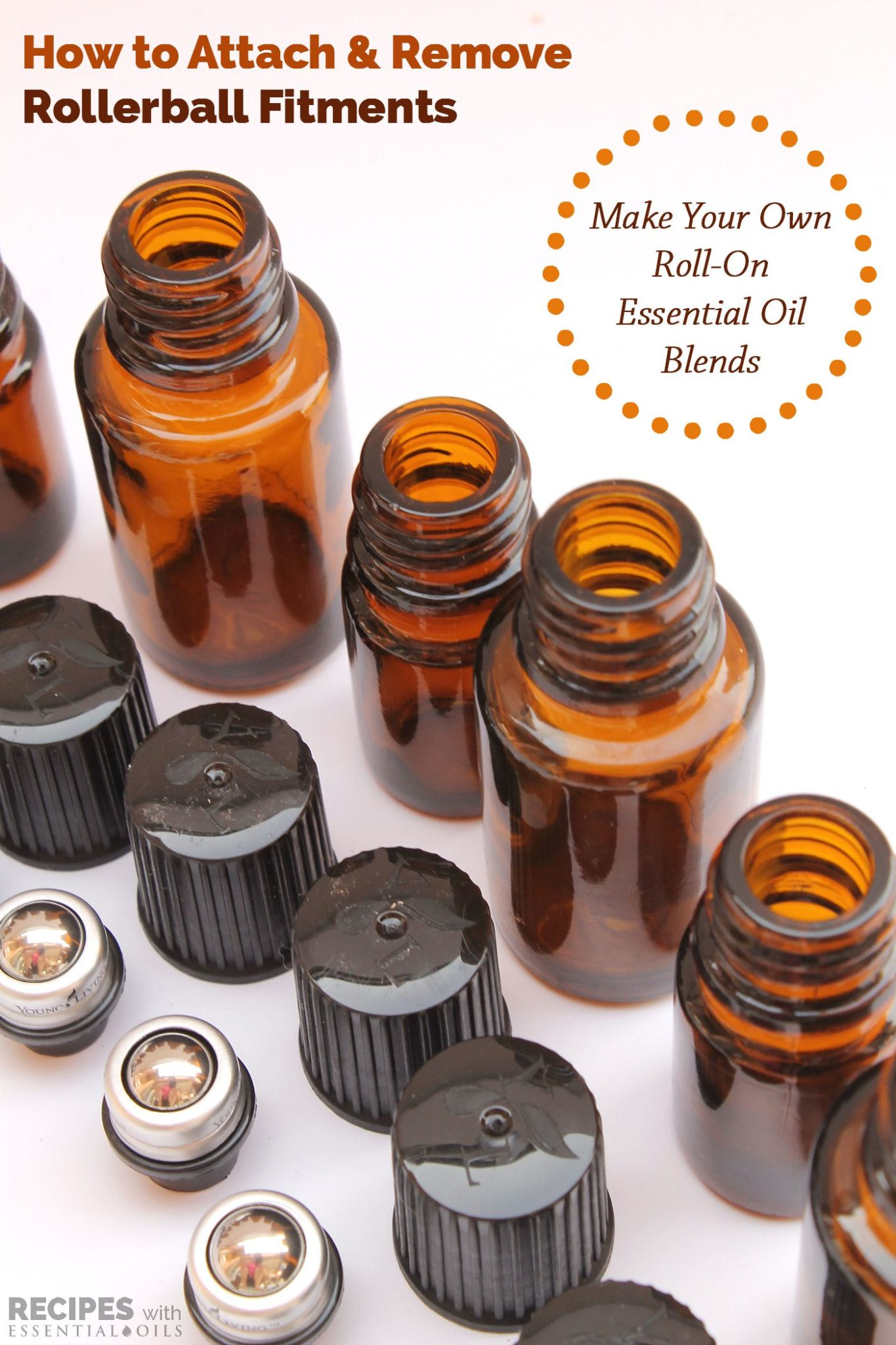 How to Attach and Remove AromaGlide Roller Fitments from RecipesWithEssentialOils.com