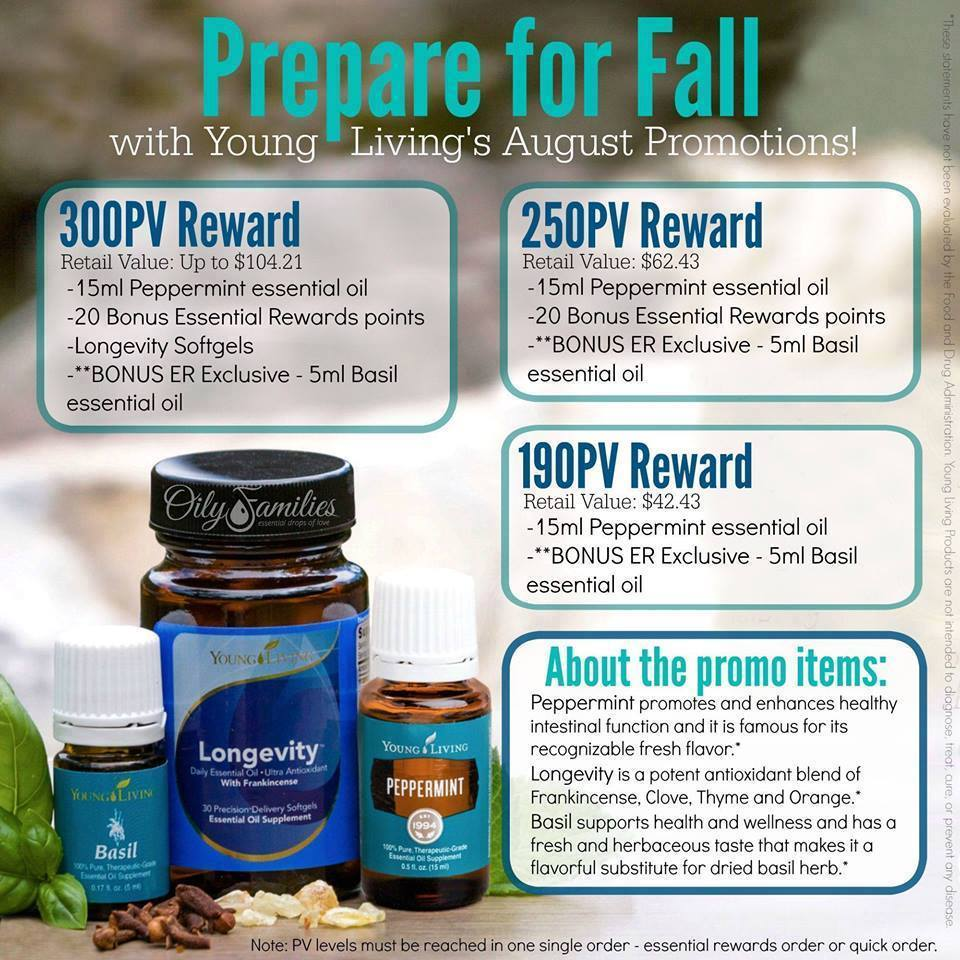 August promotional offers from young living peppermint basil young living august promotional offers fandeluxe Choice Image
