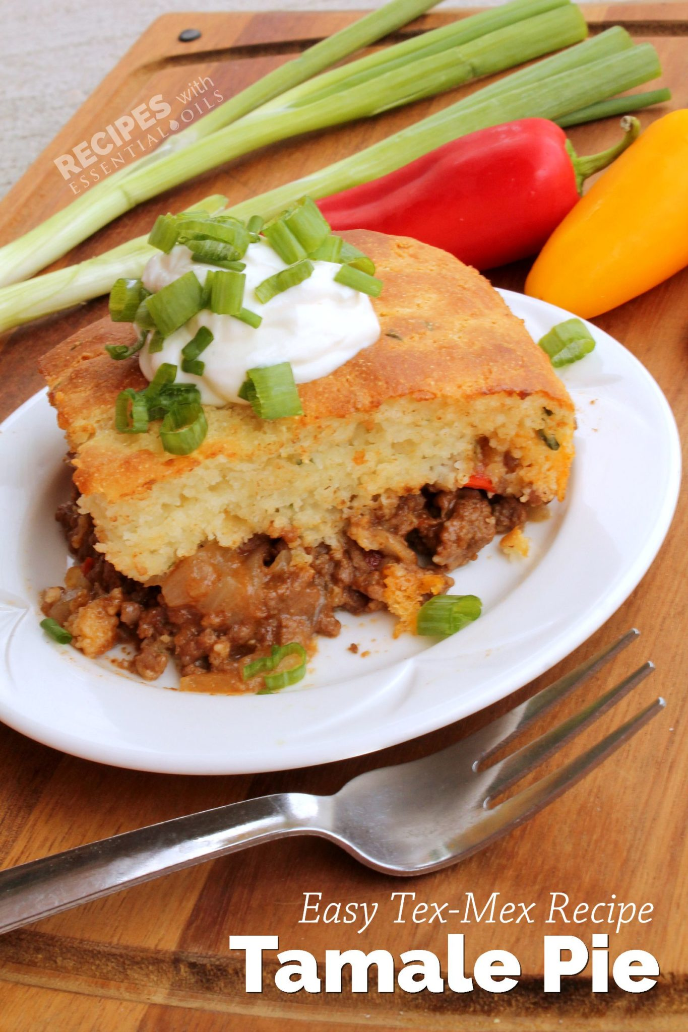 Easy Tex Mex Recipe for Tamale Pie from RecipesWithEssentialOils.com