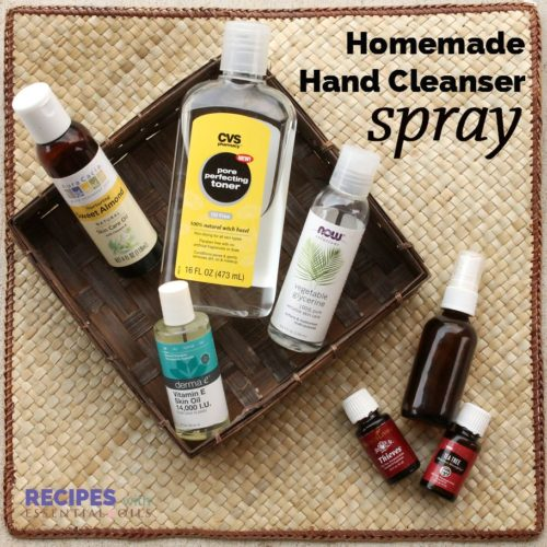 Homemade Moisturizing Hand Cleanser Spray | RecipesWithEssentialOils.com