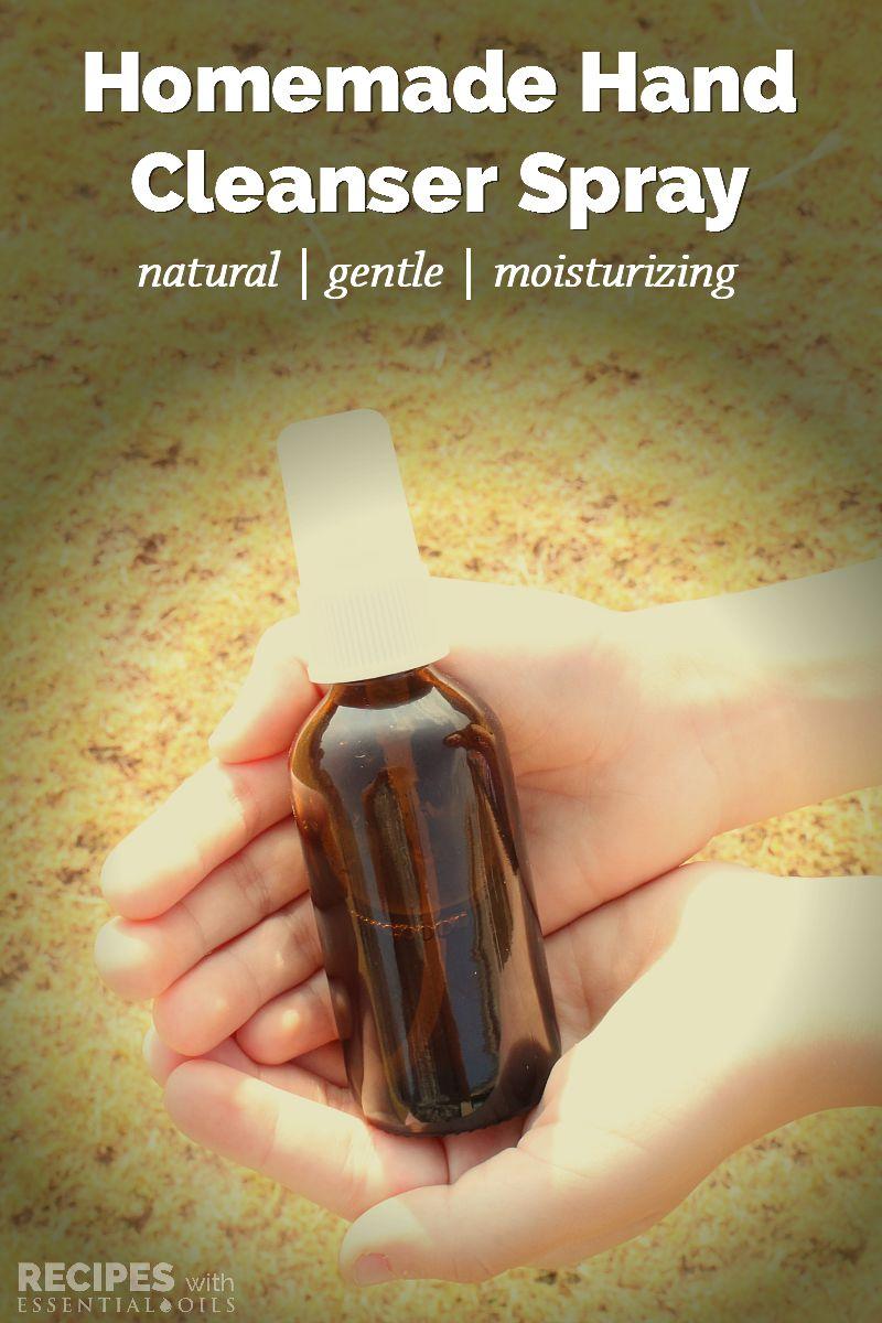 Homemade Moisturizing Hand Cleanser Spray Homemade-Moisturizing-Hand-Cleanser-Spray-from-RecipesWithEssentialOils