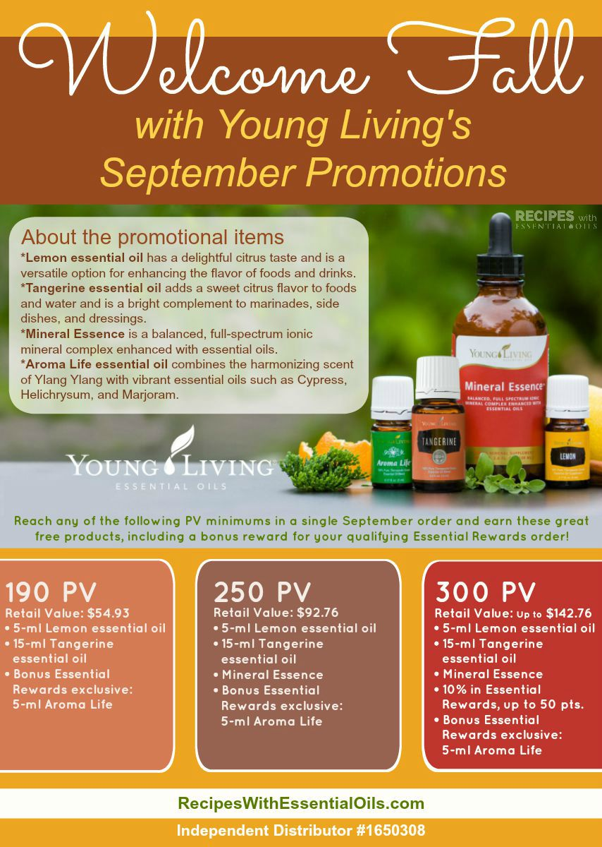 September YL Essential Oil Promotions from RecipesWithEssentialOils.com