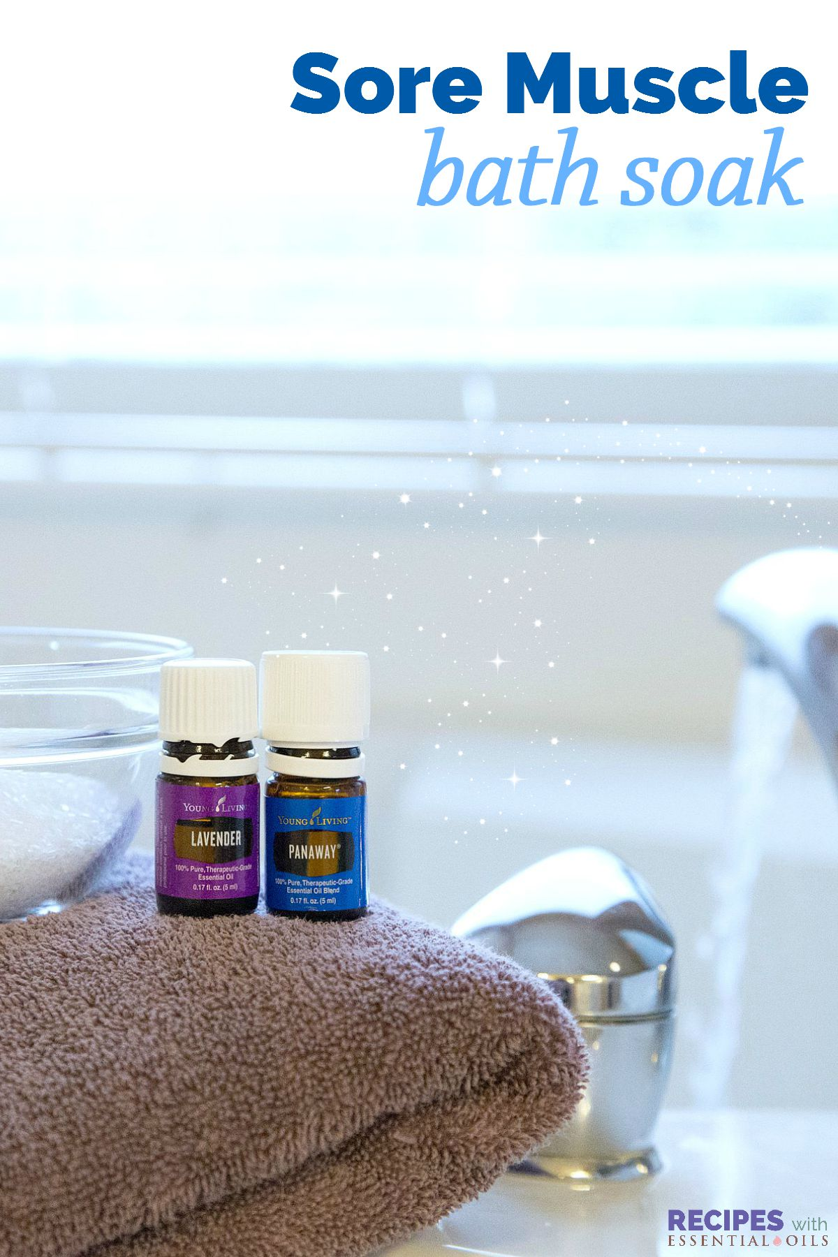 Sore Muscle Soak with Essential Oils