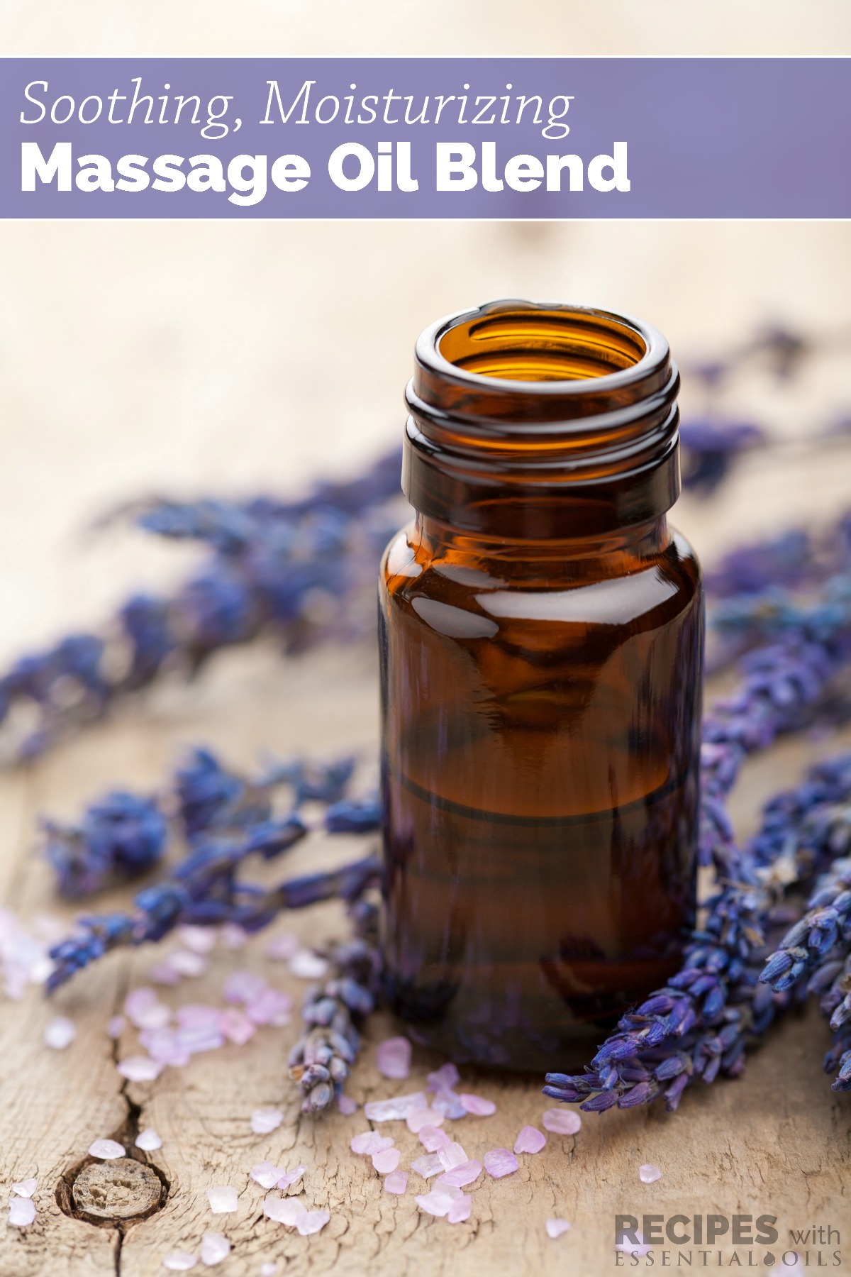 Learn how to make your own soothing, moisturizing massage oil blend that relaxes your mind and body and promotes healthful sleep, too! | RecipeswithEssentialOils.com