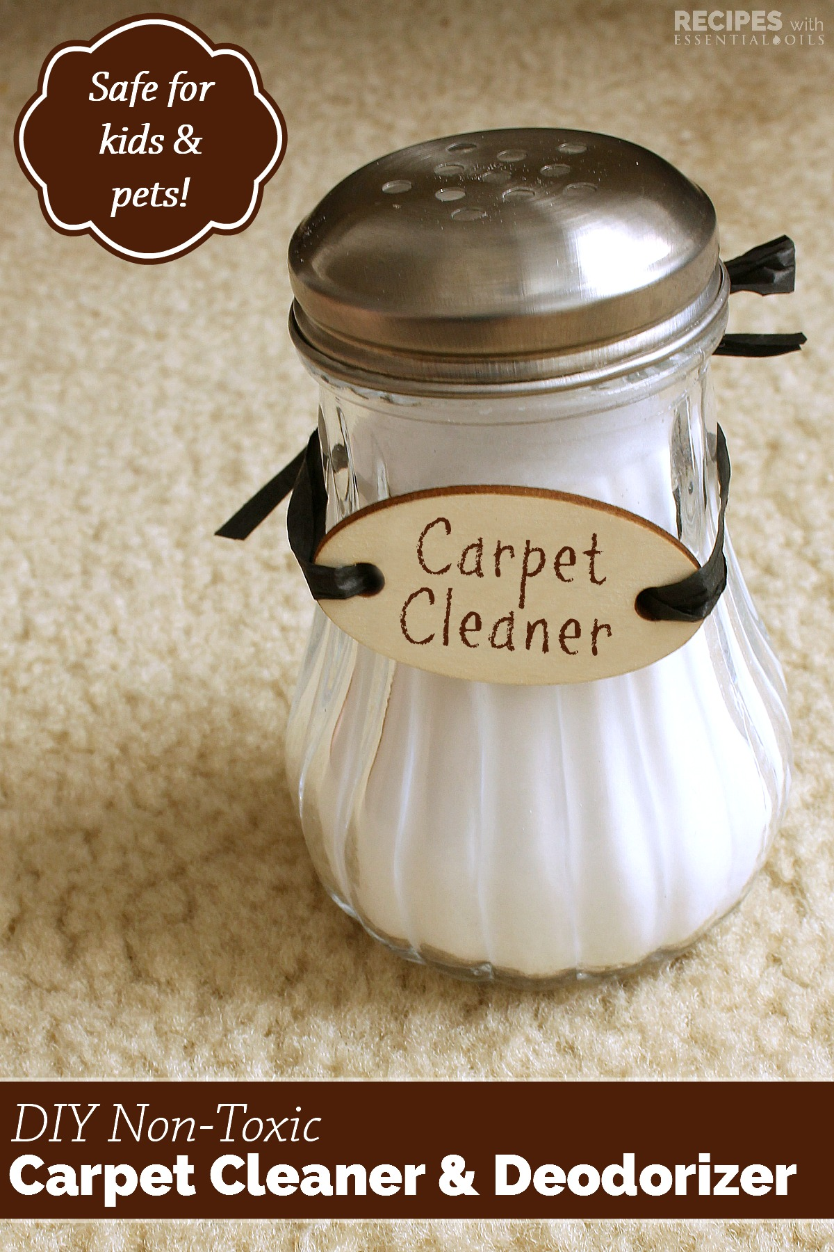 DIY NonToxic Carpet Cleaner and Deodorizer from RecipesWithEssentialOils.com