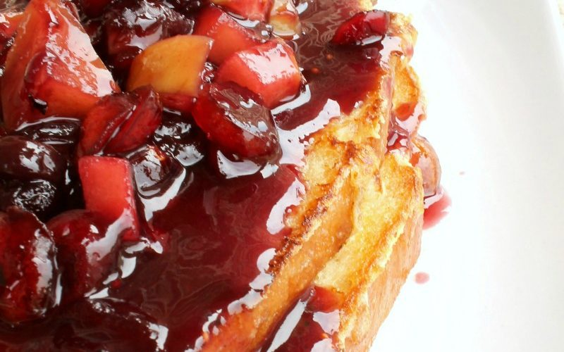 French Toast with Apple Cranberry Sauce from RecipesWithEssentialOils.com