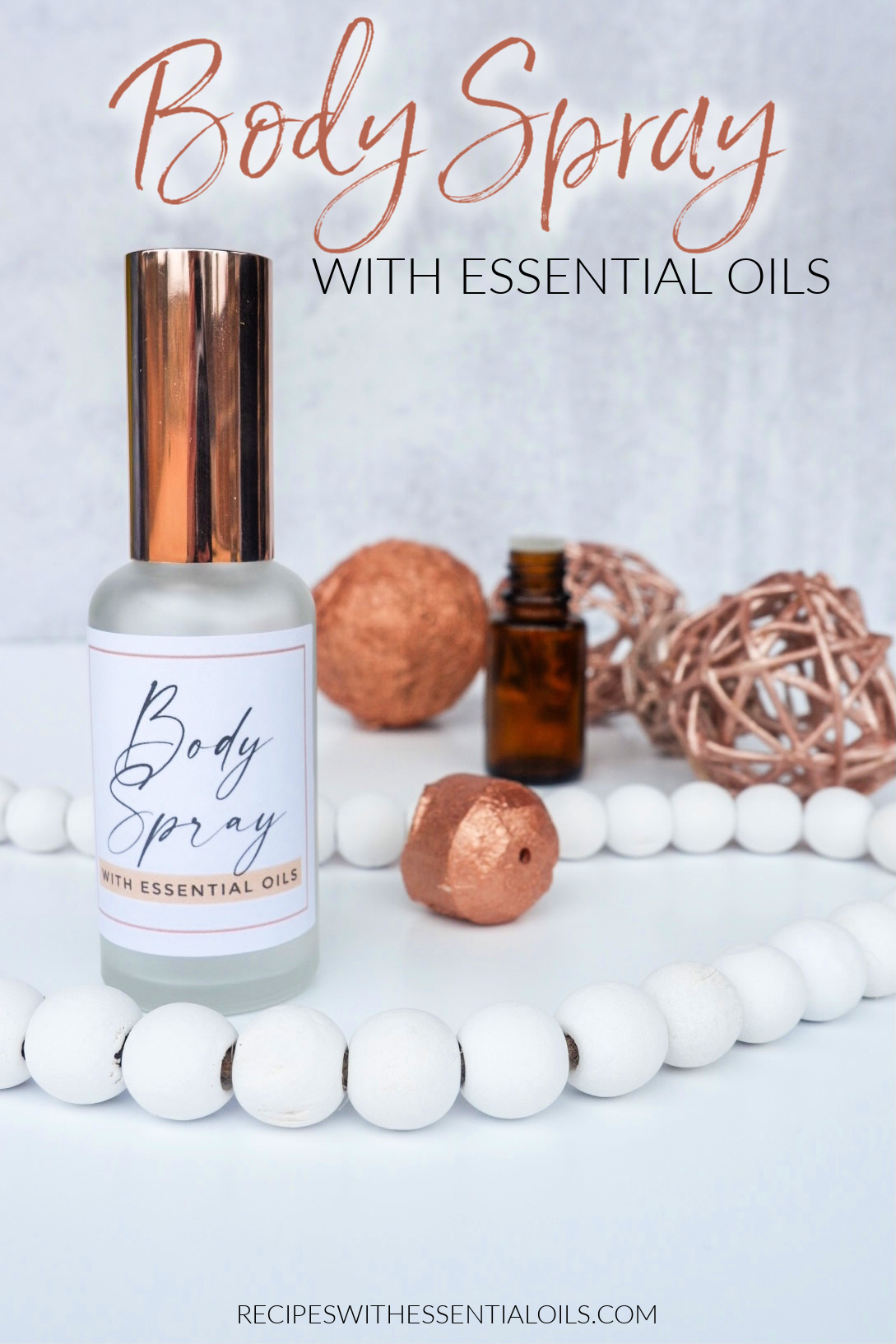 Essential Oil Body Spray Recipe
