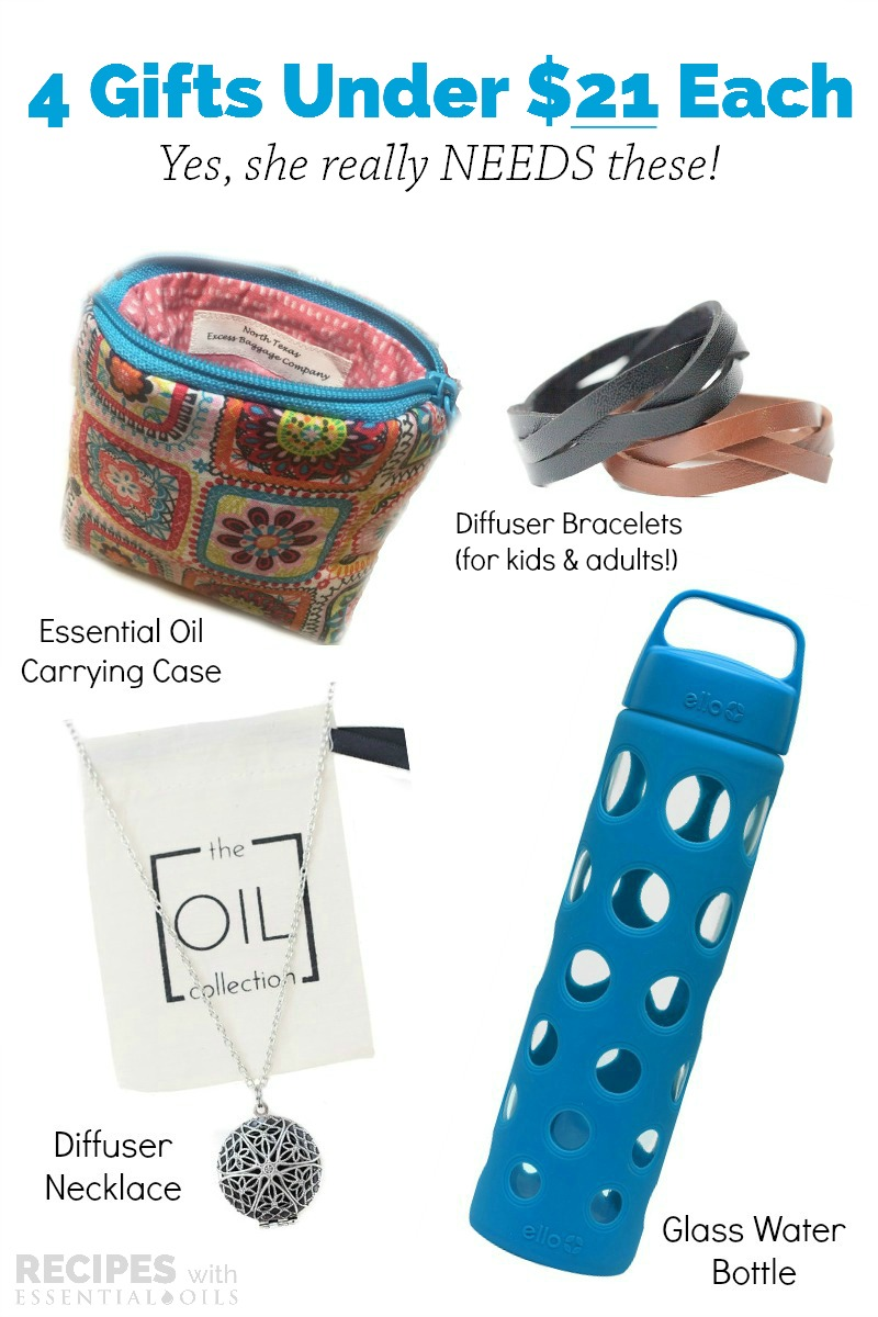 4 awesome gifts for under $21 each for every essential oil lover from RecipeswithEssentialOils.com