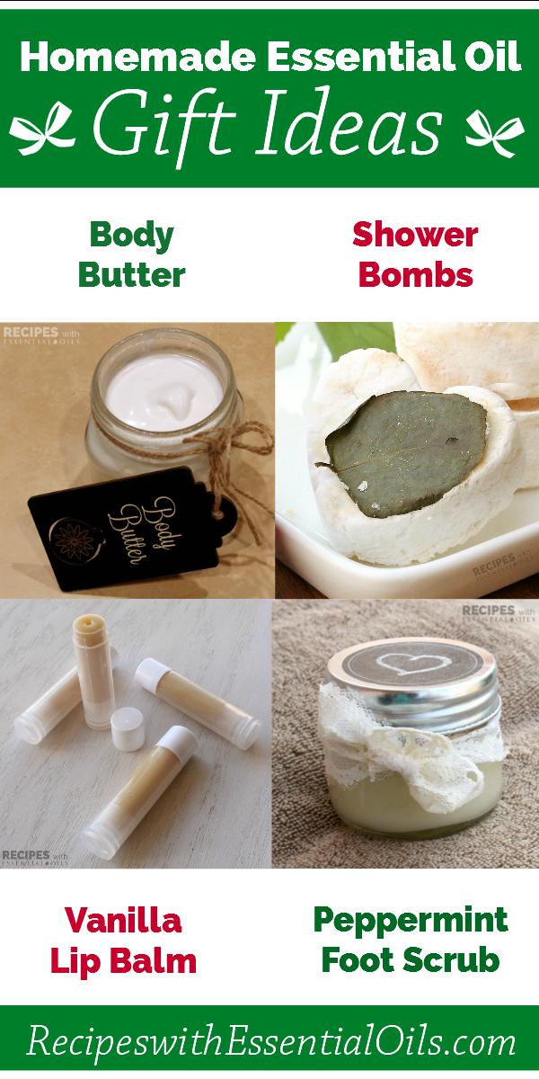 4 Homemade Essential Oil Gift Ideas from RecipeswithEssentialOils.com