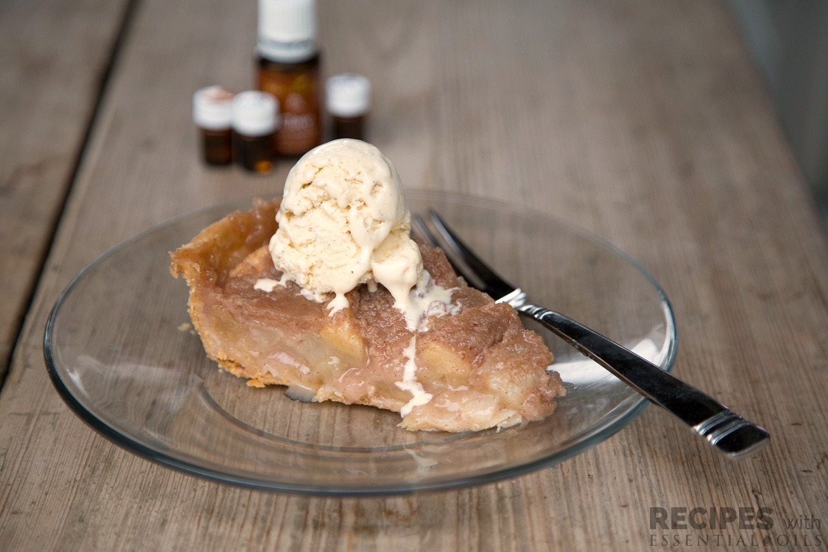 Pear Apple Pie from RecipeswithEssentialOils.com