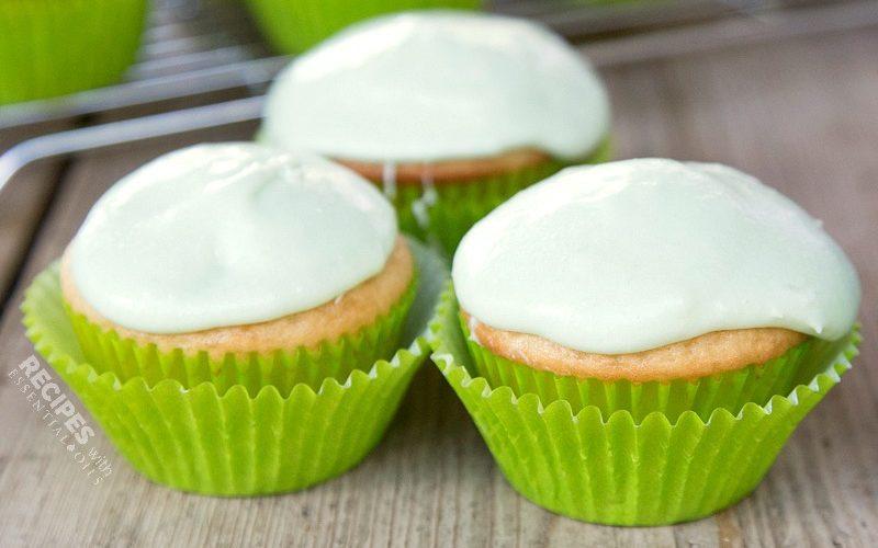 Key Lime Cupcakes from RecipeswithEssentialOils.com