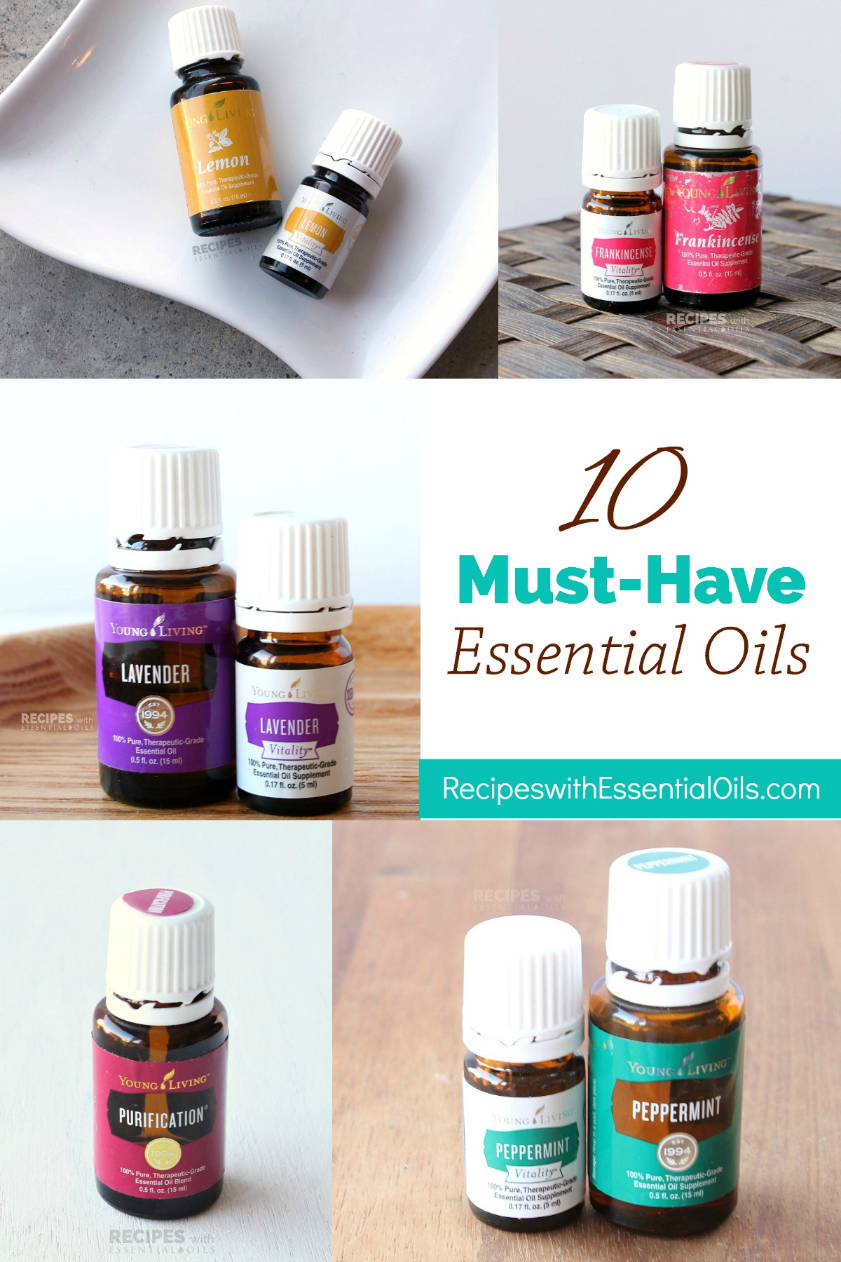 10 Must Have Essential Oils from RecipeswithEssentialOils.com
