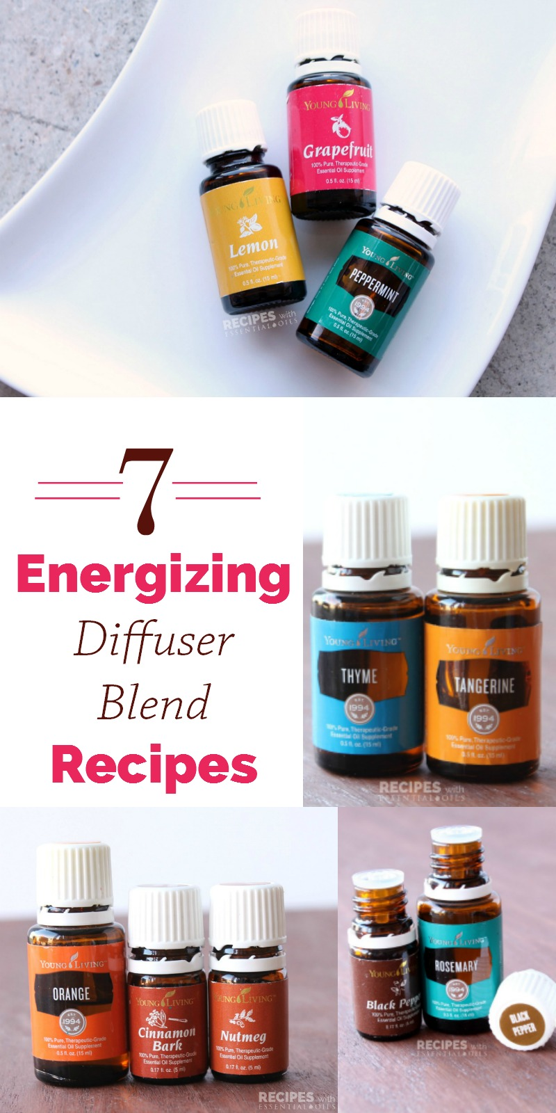 Diffuser And Oils Part - 38: 7 Energizing Diffuser Blend Recipes From RecipeswithEssentialOils.com