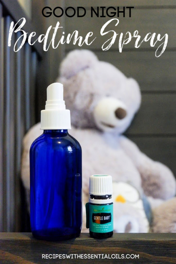 good night bedtime spray using essential oils