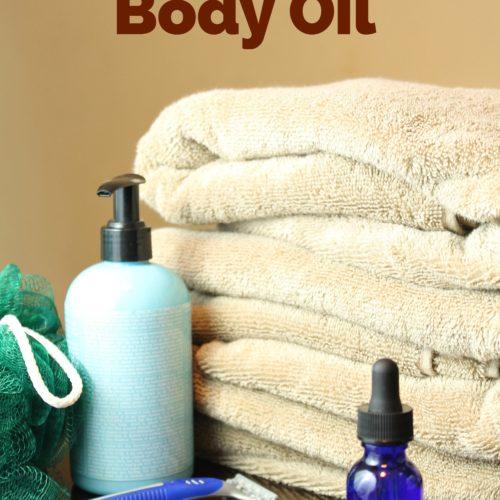 Moisturizing After Shower Body Oil from RecipeswithEssentialOils.com