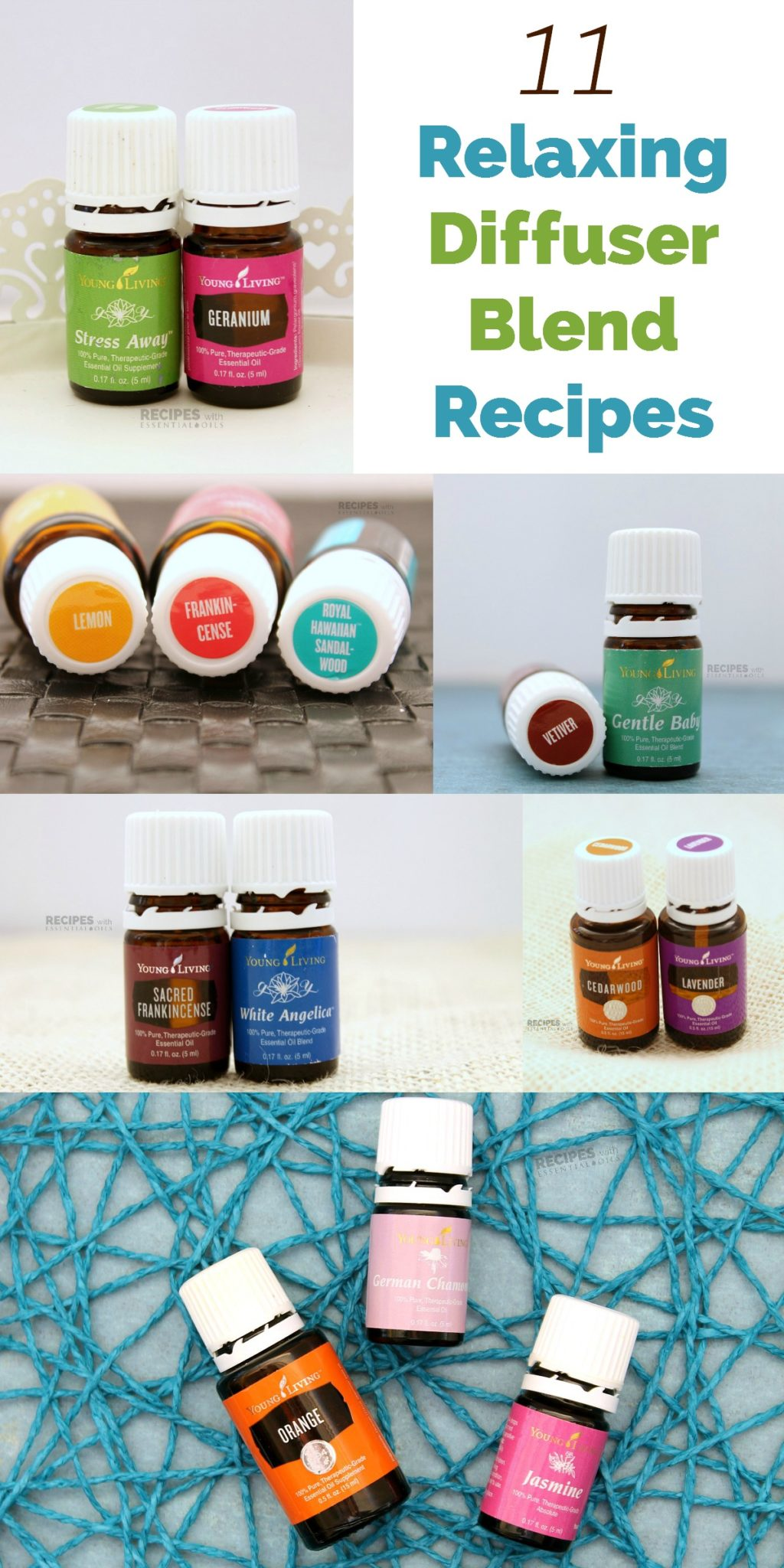 11 Relaxing Diffuser Blend Recipes from RecipeswithEssentialOils.com
