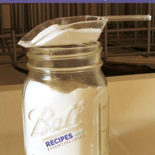 Homemade Dishwasher Powder Detergent Recipes from RecipeswithEssentialOils.com