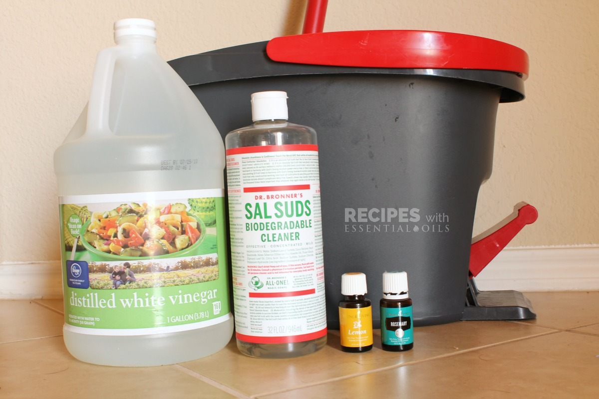 Homemade Tile Floor Cleaner Recpe from RecipeswithEssentialOils.com