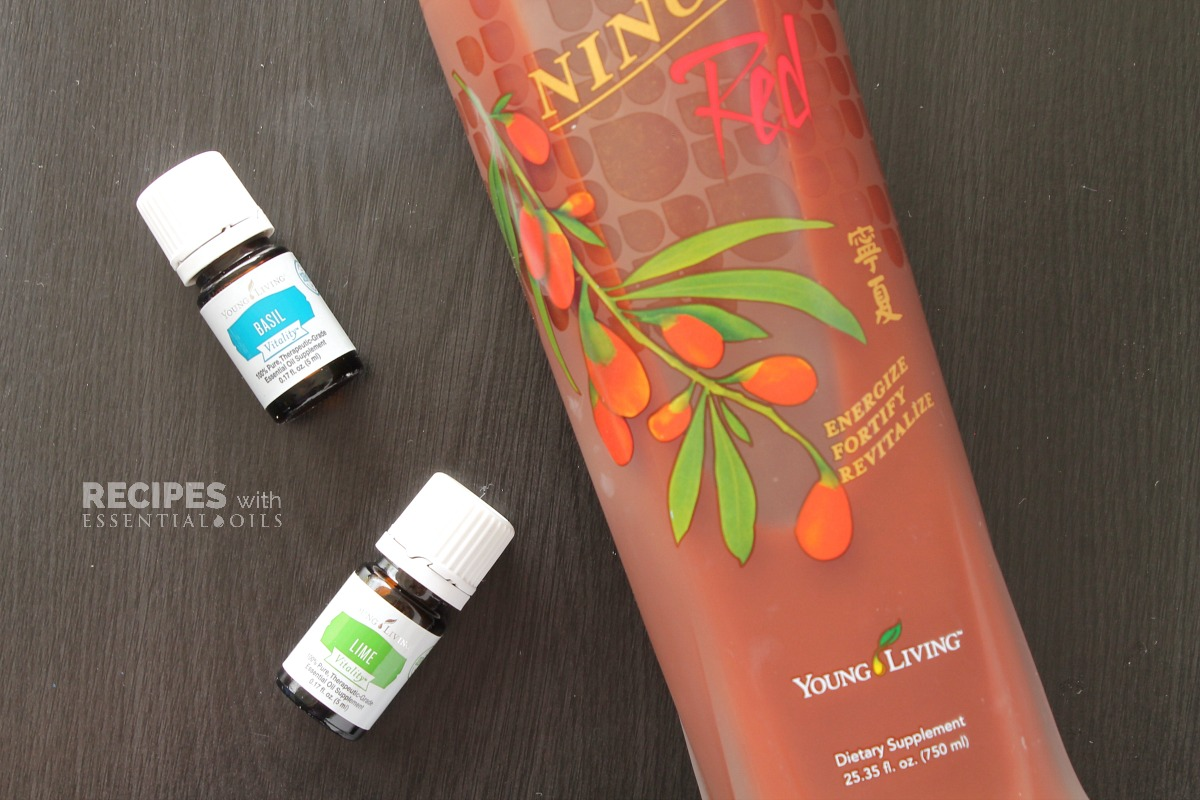 NingXia Red Shots Recipe Basil and Lime