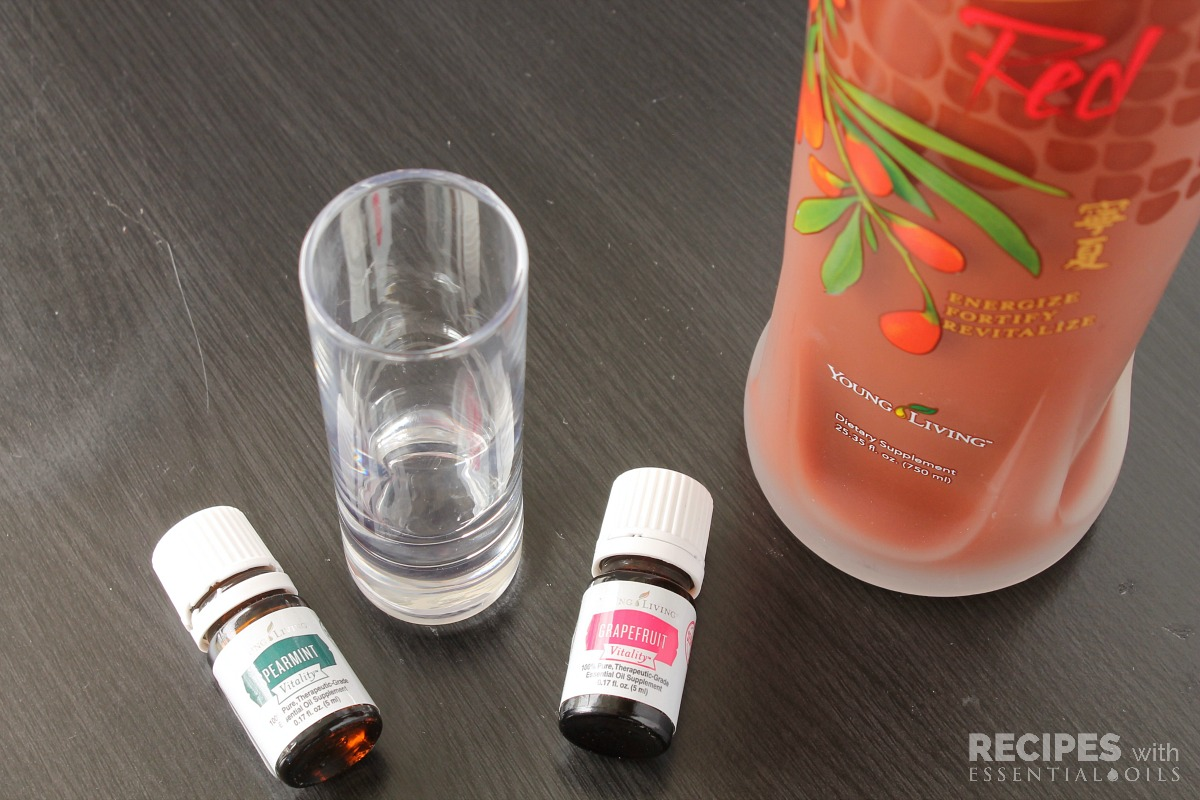 NingXia Red Shots Recipe Spearmint and Grapefruit