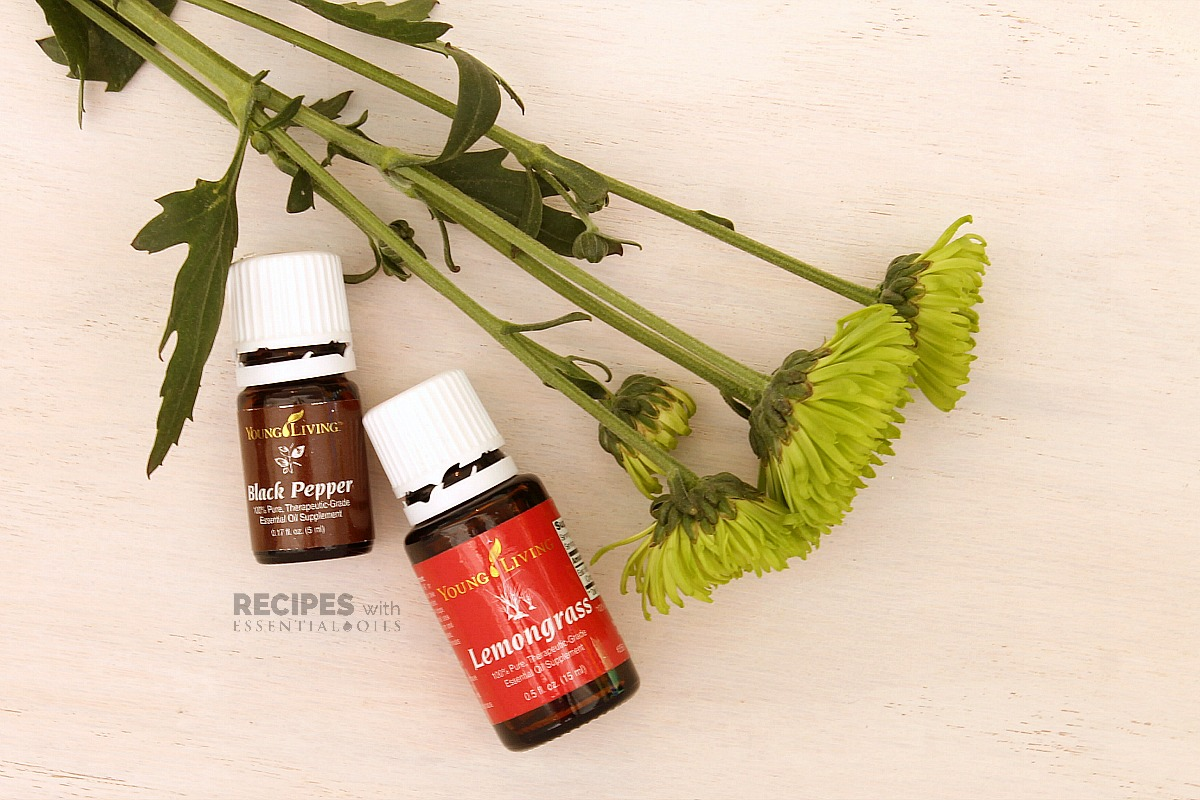 Spring Diffuser Blend Recipes Black Pepper and Lemongrass