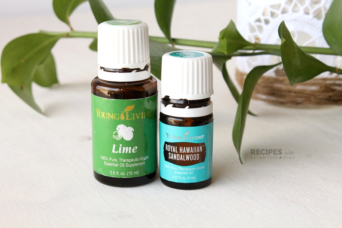 Spring Diffuser Blend Recipes including Lime and Sandalwood from RecipeswithEssentialOils.com
