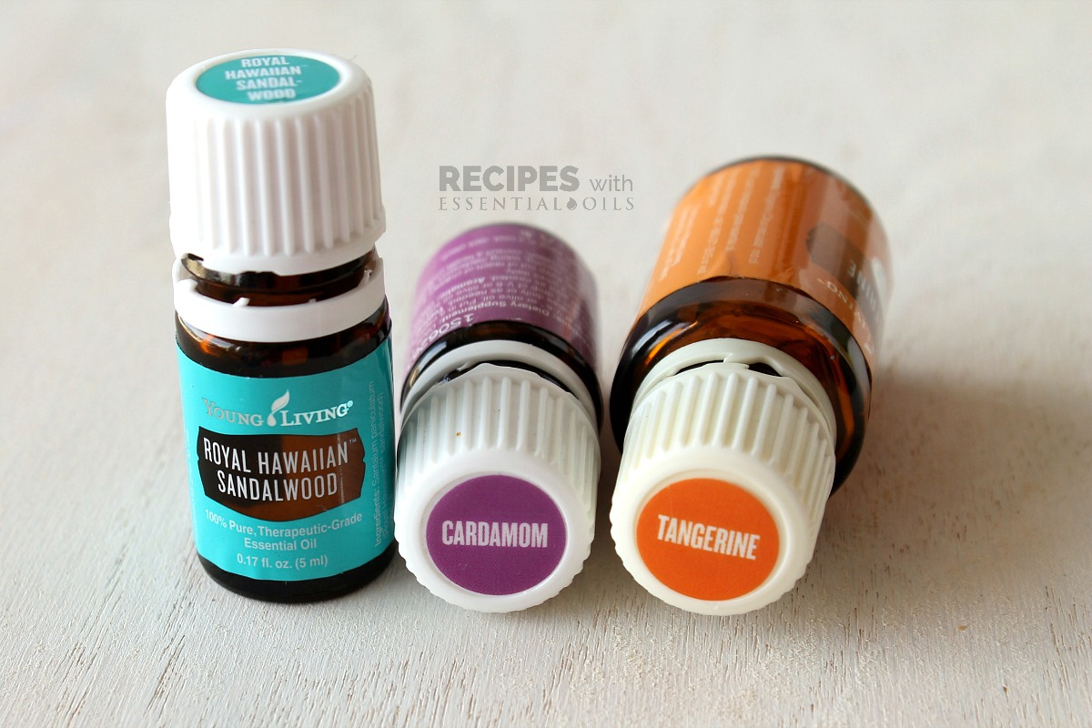 Spring Diffuser Blend Recipes Sandalwood Cardamom and Tangerine