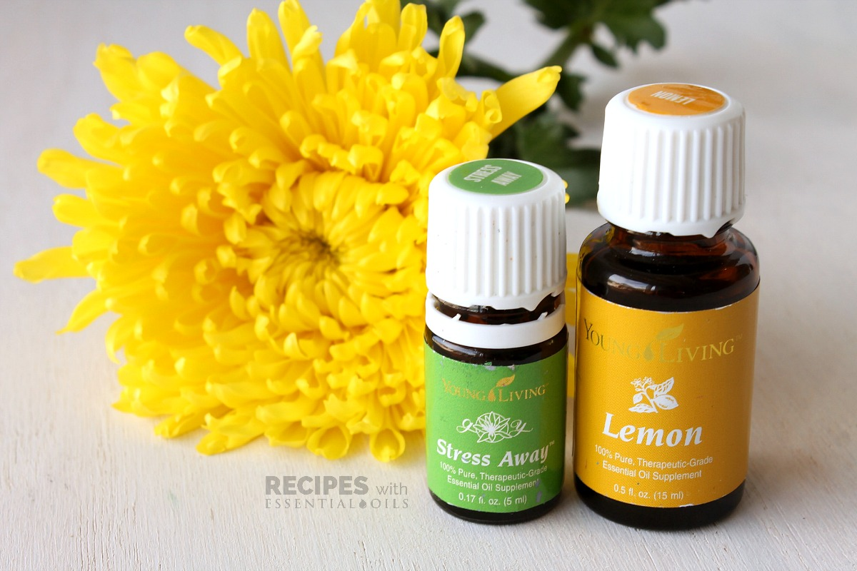 Spring Diffuser Blend Recipes including Stress Away and Lemon from RecipeswithEssentialOils.com