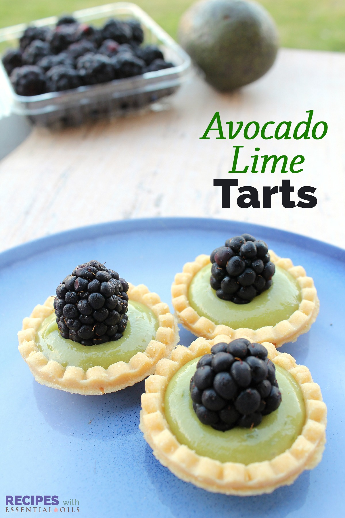 Avocado Lime Tarts Recipe from RecipeswithEssentialOils.com