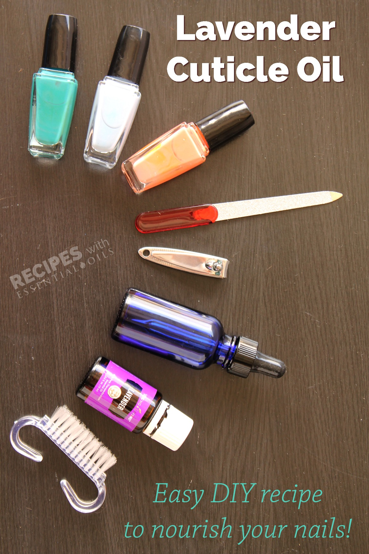 Lavender Cuticle Oil Recipe from RecipeswithEssentialOils.com