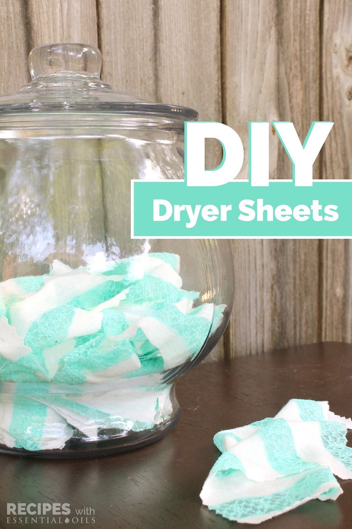 Homemade Dryer Sheets Recipe from RecipeswithEssentialOils.com