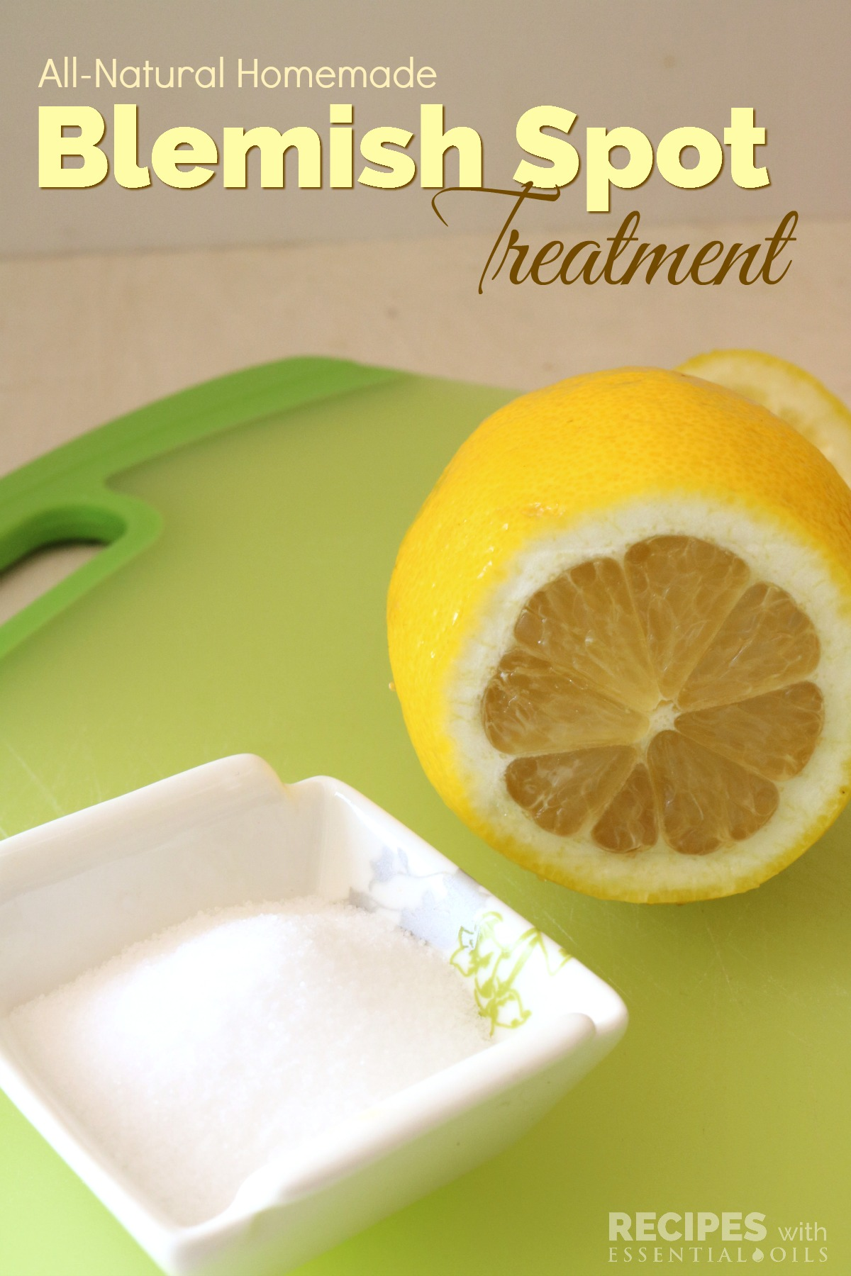All Natural Homemade Recipe for a Blemish Spot Treatment from RecipeswithEssentialOils.com