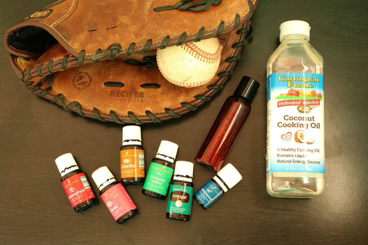 Muscle Relief Massage Oil perfect for after workouts and sports from RecipeswithEssentialOils.com