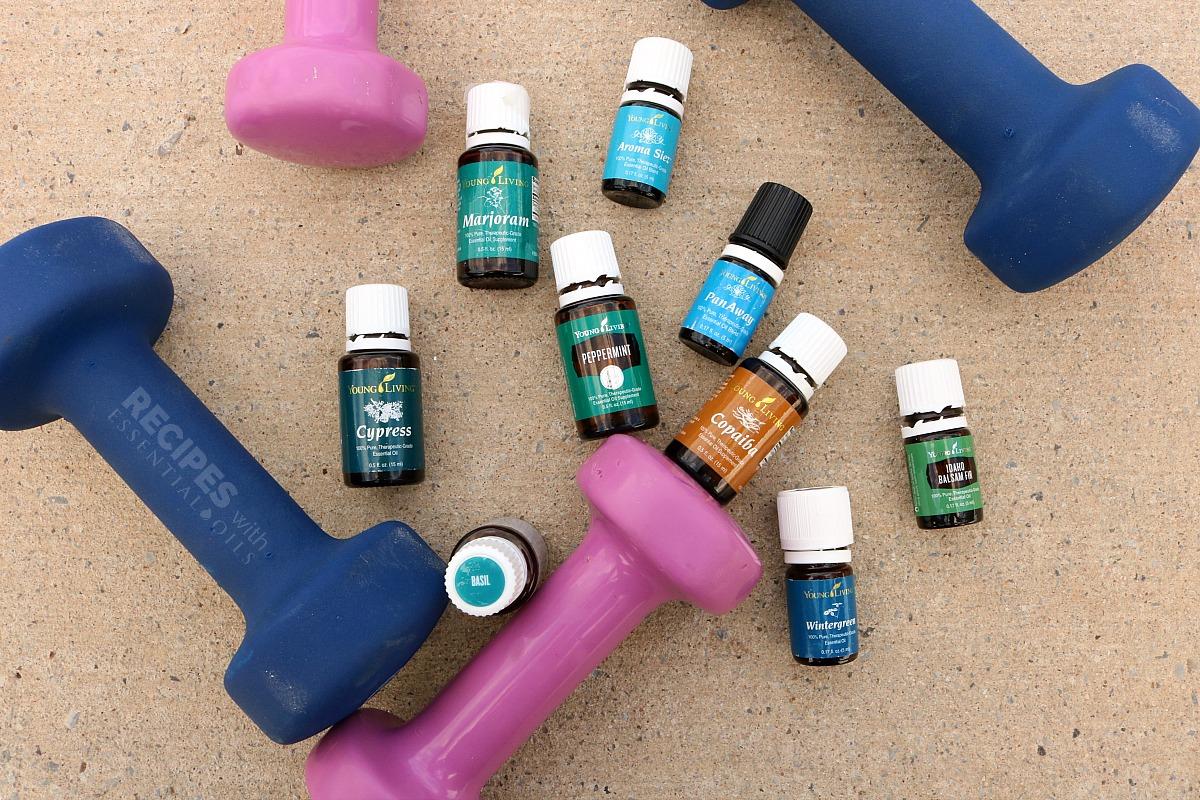 9 Essential Oils for Fitness from RecipeswithEssentialOils.com