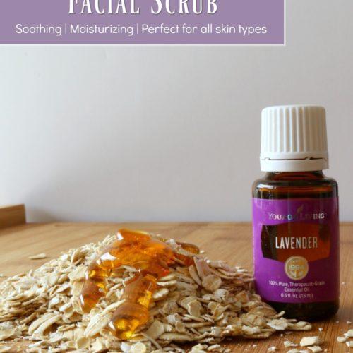 Creamy Honey Oatmeal Facial Scrub Recipe from RecipeswithEssentialOils.com