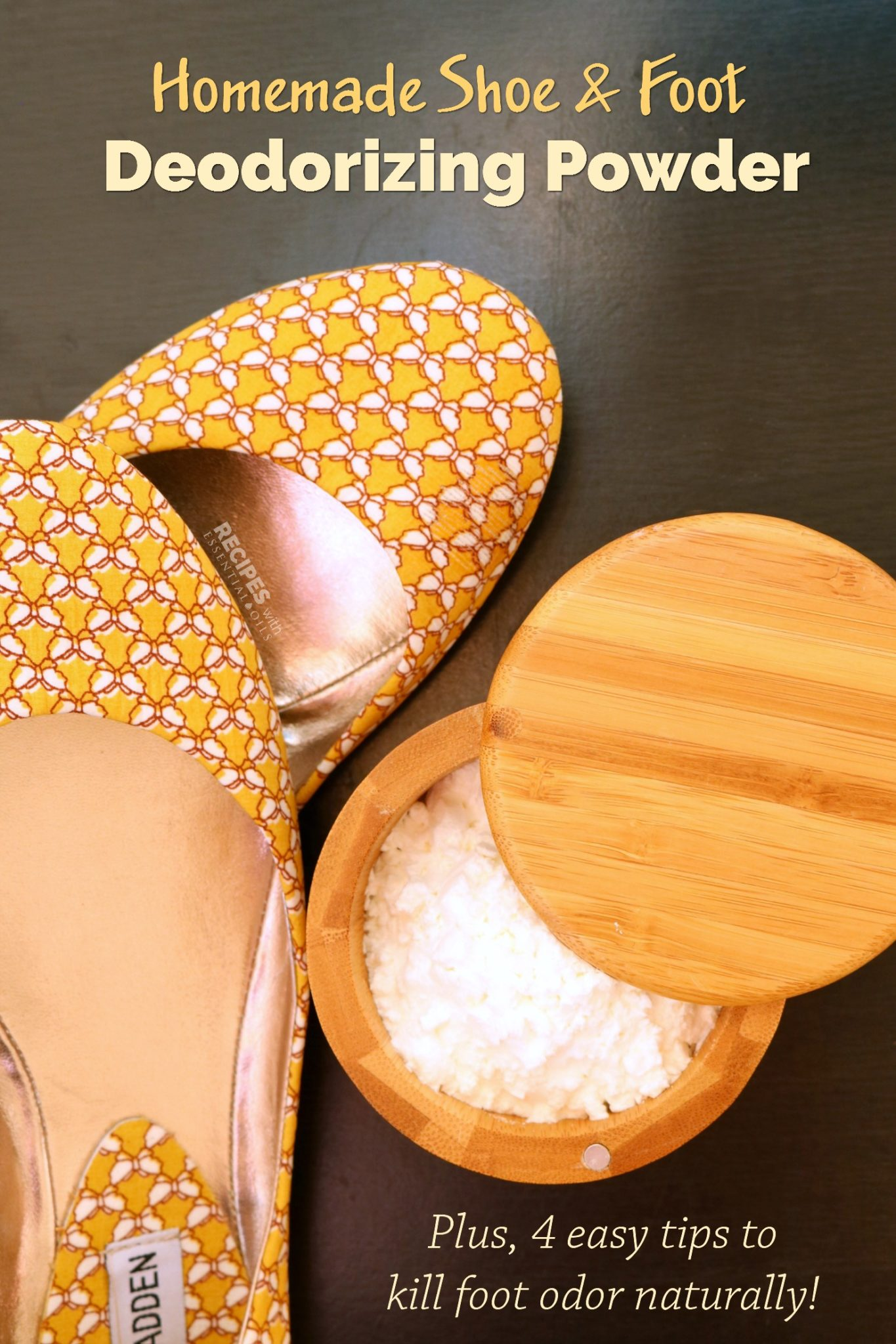 Shoe and Foot Deodorizing Powder Recipe from RecipeswithEssentialOils.com
