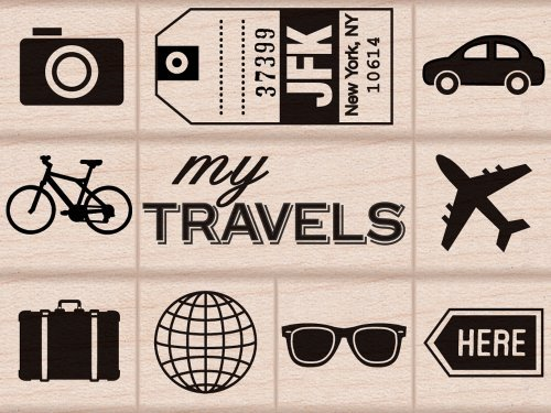 travel rubber stamps