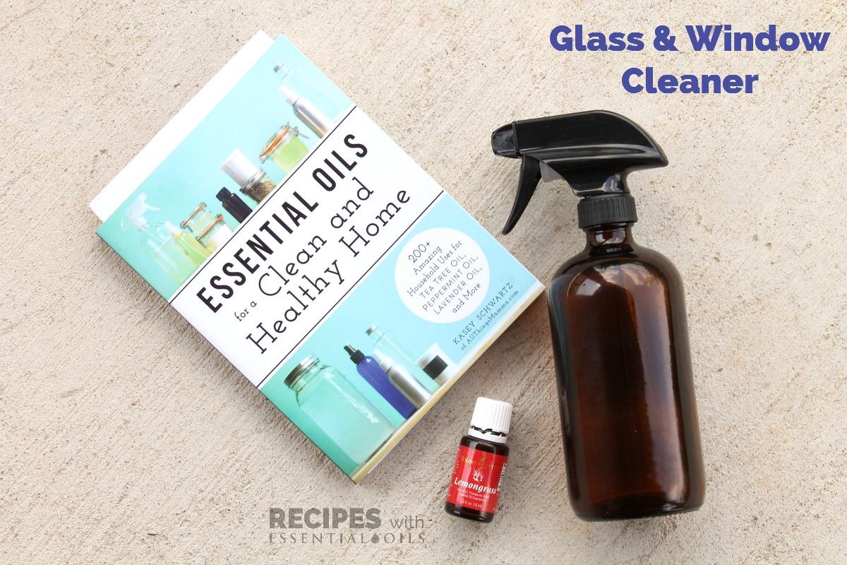 Homemade Glass and Window Cleaner Recipe from RecipeswithEssentialOils.com