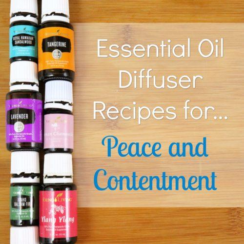 Essential Oil Diffuser Recipes for Peace and Contentment from RecipeswithEssentialOils.com