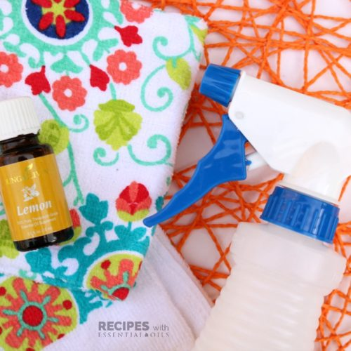 Lemon Dust Spray with Essential Oils from RecipeswithEssentialOils.com