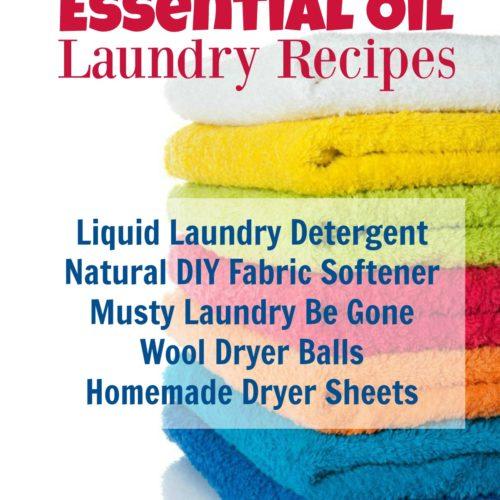 5 Best Essential Oil Laundry Recipes from RecipeswithEssentialOils.com