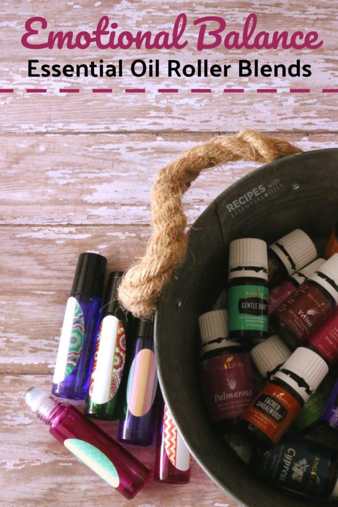 Essential Oil Roller Blends for Emotional Balance from RecipeswithEssentialOils.com
