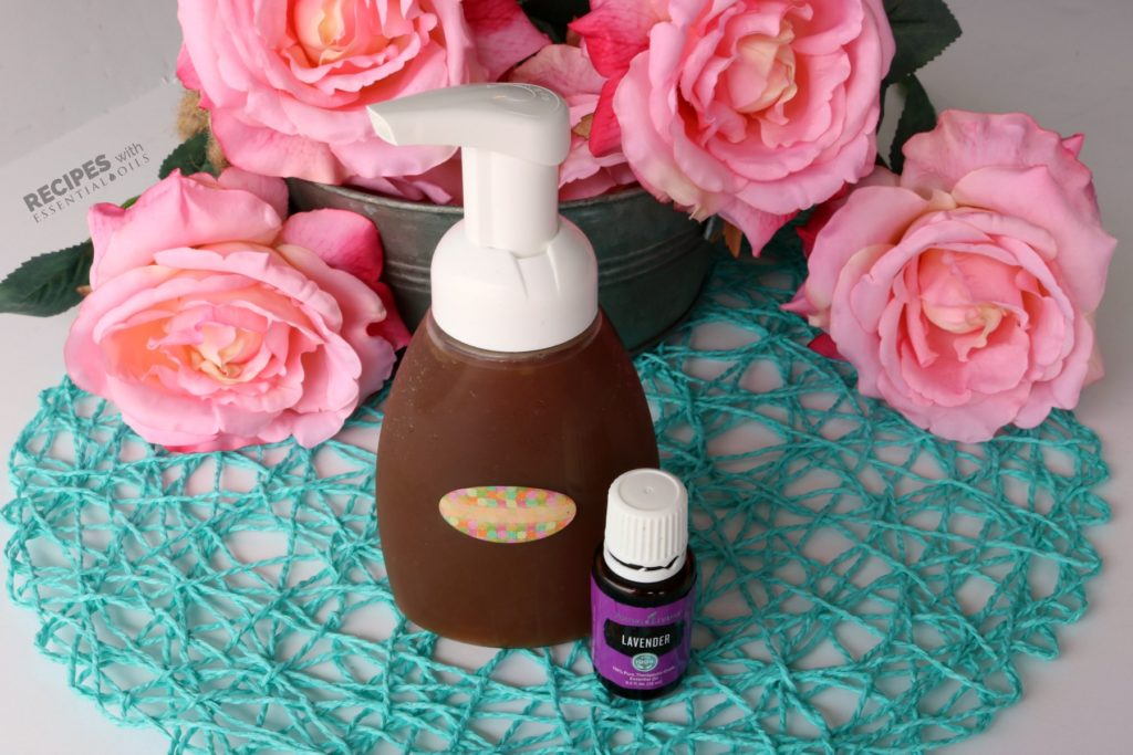 makeup remover using lavender essential oil