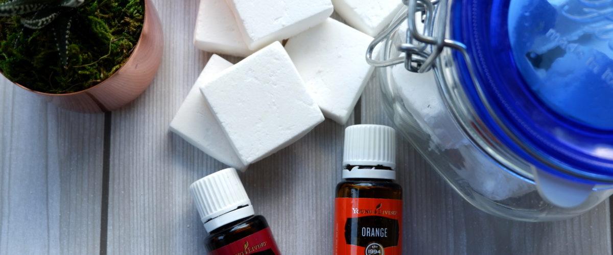 Fizzing Toilet Bomb with Orange Essential Oil