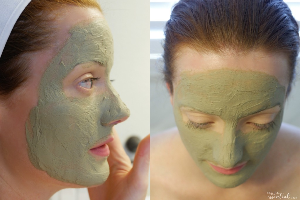 DIY clay mask on skin